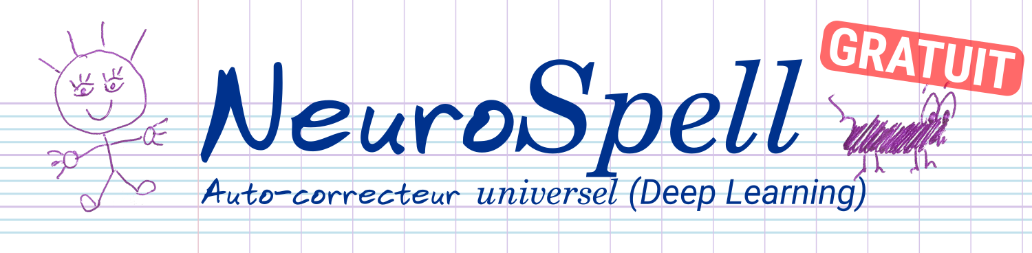 NeuroSpell, correcteur automatique neuronal
